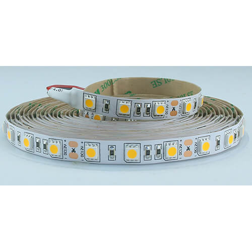 Striscia 5m ip20 5050 60LED/m 12v 14,4w/m 1350lm/m 6500k