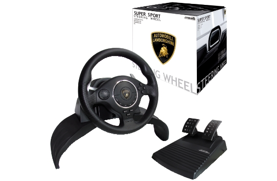 Volante super sport steering whell lamborghini per ps3-ps2-pc