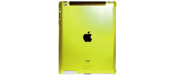 Cover ipad2/new crystal fluo giallo