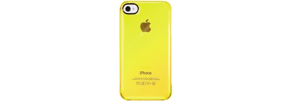 Cover iphone4/4s crystal fluo giallo